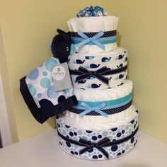 Whale Diaper Cake, Nautical Diaper Cakes, Diaper Cakes Tutorial, Diaper Cake Instructions, Baby Shower Cakes, Baby Shower Gifts, Baby Shower For Men, Sprinkle Shower, Baby Shower Centerpieces