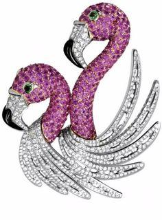 Haute Tramp{Jewel Worthy} Diamond and sapphire brooch byGeorland