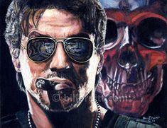Sylvester Stallone Expendables Barney Ross art by billpruittart #Expendables #SlyStallone