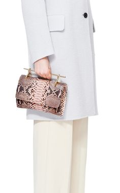Fabricca In Dusty Pink Python by M2Malletier for Preorder on Moda Operandi