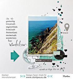 """Layout mit dem #dpJunikit15 von Martina für www.danipeuss.de #Klartextstempel""""super"""" #Klartextstempel""""herz"""""""