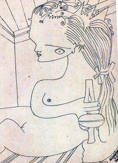 transistoradio:  Wilfredo Lam, illustration for André Breton's...