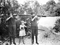 Target practice in 1924 on St George Island