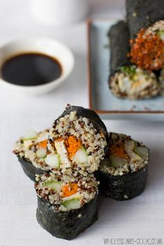 Quinoa Sushi Rolls (3) Lots of Quinoa Sushi Roll Recipes --- remember to calculate the WW PP for these!