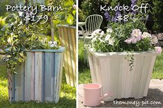 Make your own pottery barn planter and save 170$.. Uses fence board and paint stir sticks. GENIUS!