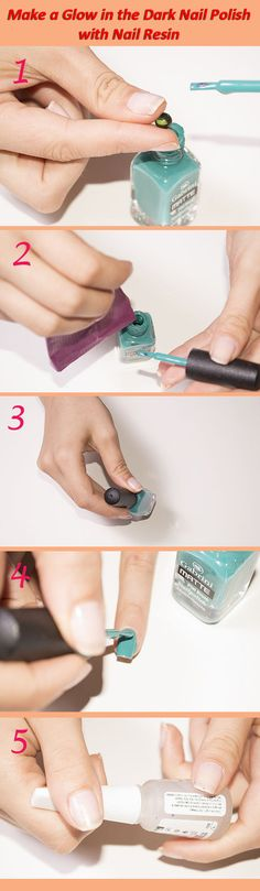 How to Make a Glow in the Dark Nail Polish with Nail Resin Tutorial