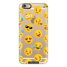 Emoji Love Transparent Case - Nour Tohme - iPhone 7 Case, iPhone 7... ($40) ❤ liked on Polyvore featuring accessories, tech accessories, cases, phone cases, phone, iphone case, iphone cases, transparent iphone case, iphone cover case and apple iphone case