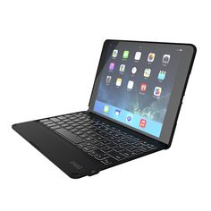 Amazon.com: ZAGG Folio Case Hinged with Backlit Bluetooth Keyboard for iPad Air 2, Black (ID6ZFK-BB0): Computers & Accessories