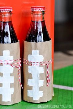 Get the kids rooting for the home team during your big game day party with DIY paper bag football Coca-Colas. Also great for tailgating with your friends.