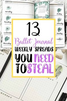 13 Bullet Journal Weekly Spreads you NEED to Steal - This list has some amazing beginner friendly weekly bullet journal spreads that you can use in your very own Bullet Journal! Try out some of these over the next month in your own weekly bujo! Borders Bullet Journal, Bullet Journal Headers And Banners, Bullet Journal Gifts, Monthly Bullet Journal Layout, Bullet Journal Student, Bullet Journal Mood Tracker Ideas, Bullet Journal Travel, Bullet Journal For Beginners, Bullet Journal Quotes