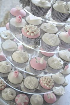 The Silver Foil Cupcake Holders Are Pretty And Different Designs On Top Of Cupcakes Football CupcakesWinter Wedding