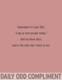 Daily Odd Compliment.