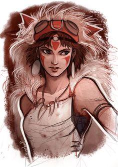 San fanart (http://walfl0wer.tumblr.com/post/25377159259/princess-mononoke-by-grimhel)