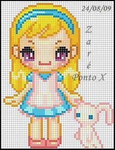 Alice in Wonderland perler bead pattern