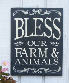 Bless our Farm and Animals Hand Screened by ZietlowsCustomSigns, $17.00