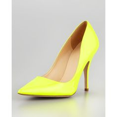 Women's kate spade new york licorice patent pointed-toe pump, yellow ($298) ❤ liked on Polyvore