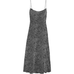 Kate Moss for Equipment Jessa printed washed-silk maxi dress (€130) ❤ liked on Polyvore featuring dresses, silk drape dress, maxi dresses, black and grey dress, snakeskin print dress and black and gray dress