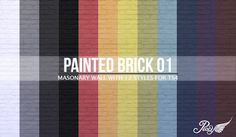 My Sims 4 Blog: Painted Brick Wallpaper by Peacemaker ic