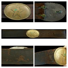 """Oval Star Buckle - the """"Star"""" seal was widely used by Texans during the war."""