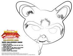 Kung Fu Panda Shifu Printable Mask Craft