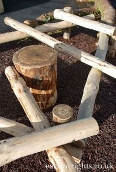 Naturally durable, local larch, with recycled tyre safety surface