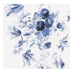 KEK Amsterdam Behang Royal Blue Flowers lll - 6-baans - afbeelding 1