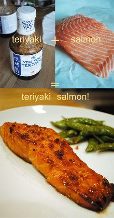 A Longenecker Story Short: Recipes ... veri veri Teriyaki Salmon and sugar snap peas.