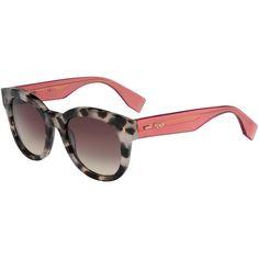 Rosie Huntington-Whiteley wearing Fendi Colorblock Square Acetate Sunglasses.