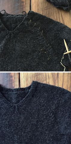 How to knit a compound raglan