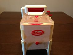 Vintage Toy Windup Washing Machine with Wringer by Ideal