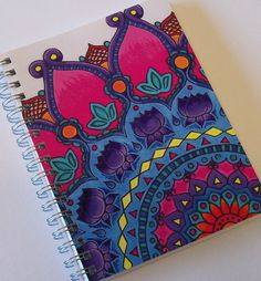 partial mandala on notebook