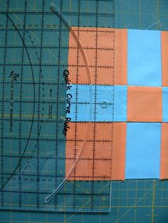 "Curve Nine Patch Tutorial using the Quick Curve Ruler. Makes 8"" block. Sew Kind Of Wonderful blogspot"