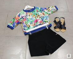 OUTFIT | SHORTS + CROP TOP
