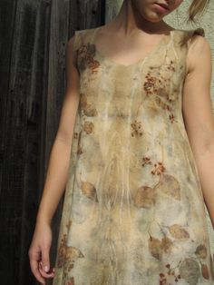Dress eco-dye by Myfeltedfantasy