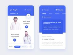"434 Likes, 5 Comments - User Interface (@ui_design_inspiration) on Instagram: ""People & Story Screen by Prakhar Neel Sharma  #ui #ux #uidesign #uxdesign #userexperience…"""