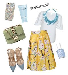 """""""Good morning floral"""" by lightbird on Polyvore featuring Miss Selfridge, Valentino, Kate Spade, Marc Jacobs, Essie, women's clothing, women's fashion, women, female and woman"""