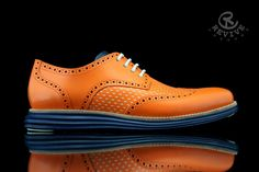 Cole Haan LunarGrand Wingtip Knicks Orange for Spike Lee by Revive Customs (1) #shoes #men