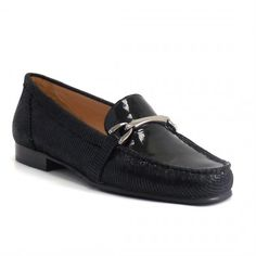 3843331a34bbc 507-229 Black Printed Leather Moccasin