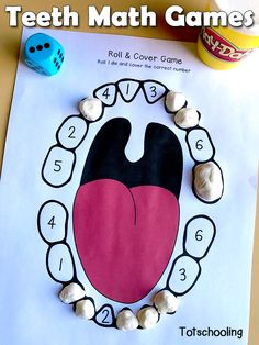 Kids Health FREE teeth printable games for dental health theme in preschool, featuring number recognition and counting activities. - FREE teeth printable games for dental health theme in preschool, featuring number recognition and counting activities. Health Activities, Counting Activities, Preschool Activities, Preschool Printables, Teeth Games, Dental Kids, Children's Dental, Dental Games, Dental Teeth