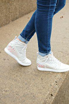 Nike Dunk High Skinny Leopard Wedge Sneaker Force   Leopard wedges, Leopard  sneakers and Nike dunks