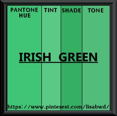 Pantone Seasonal Color Swatch Irish Green Jean Délavé Shades Of