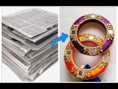 Latest designer kada bangles// best out of waste diy 2019 Silk Thread Earrings Designs, Silk Thread Bangles Design, Silk Thread Necklace, Silk Bangles, Bridal Bangles, Thread Jewellery, Fabric Jewelry, Indiana, Hand Embroidery Videos