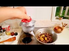 Hi guys, I tried to cook this Chinese recipe, I found this online and I made some changes. You can try this in normal size of serving. Here are the recipe yo. Toy Kitchen Set, Little Kitchen, Beef And Potato Stew, Tiny Cooking, Stewed Potatoes, Mini Foods, Miniture Things, Miniature Food, Chinese Food
