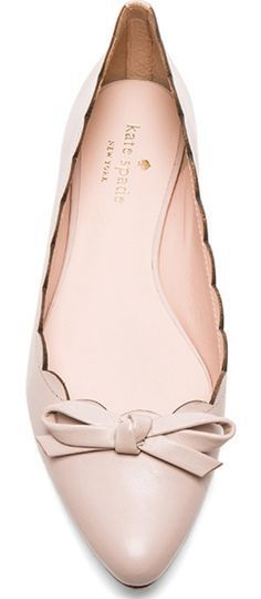 Kate Spade bow flats - great neutral shoes that work with any colour of clothing.