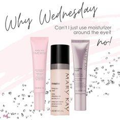 Mary Kay Moisturizer, Mary Kay Cosmetics, Beauty Consultant, Eye Primer, Mary Kay Makeup, Pink Parties, Beauty News, Eye Cream, Wednesday