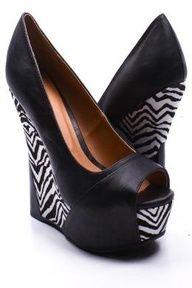 zebra print high heel shoe
