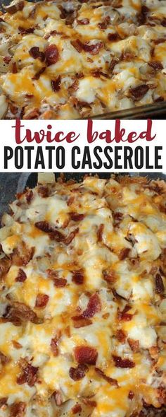 Potato Casserole an easy 4 step delicious dinner recipe that everyone will love! potatoes, bacon and cheesy goodness!Baked Potato Casserole an easy 4 step delicious dinner recipe that everyone will love! potatoes, bacon and cheesy goodness! Twice Baked Potatoes Casserole, Casserole Dishes, Loaded Potato Casserole, Potatoe Casserole Recipes, Breakfast Casserole, Cheap Casserole Recipes, Hashbrown Breakfast, Chicken Casserole, Potato Cassarole