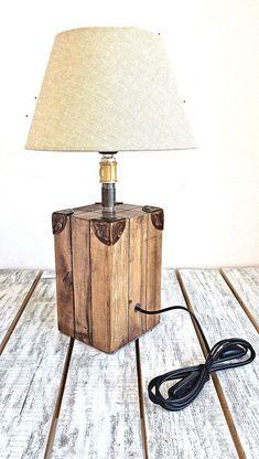 Creative Lamp Base Ideas Bedside Lamp Table Lamp Wood Lamp Desk Lamp Rustic Lighting Wood Lamp Base In Lighting Ideas Bedside Lamp Wood Lamps And Table Wood Lamp Base, Table Lamp Wood, Rustic Lamps, Rustic Lighting, Table Lighting, Rustic Table, Industrial Lighting, Bedroom Lighting, Modern Lighting