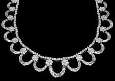 40.38ct Diamond 18k White Gold Necklace