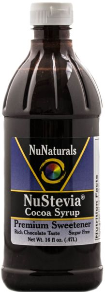 NuStevia Cocoa Syrup Sugar-Free Chocolate Stevia Sweetener is a great sugar-free coffee syrup! This rich syrup is the perfect flavored syrup for coffee mochas.